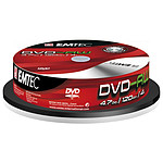 EMTEC DVD-RW 4.7 Go certifié 4x (pack de 10, spindle)