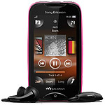 Sony Ericsson Mix WT13 Rose / noir