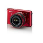 NIKON 1 J1 Rouge Glossy + 10-30 mm F/3.5-5.6 + 10 mm F/2.8