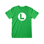 Super Mario - T-Shirt Luigi Badge - Taille L