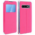 Avizar Etui folio Fuchsia Éco-cuir pour Samsung Galaxy S10