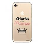 EVETANE Coque iPhone 7/8/ iPhone SE 2020 rigide transparente Chiante mais princesse Dessin