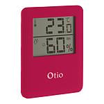Thermomètre Hygromètre magnétique à écran LCD - Rose - Otio
