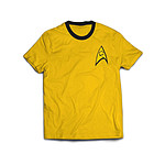 Star Trek - T-Shirt Ringer Command Uniform   - Taille XL
