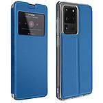 Avizar Etui folio Bleu pour Samsung Galaxy S20 Ultra