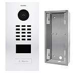 Doorbird Portier vidéo IP lecteur de badge RFID D2101V RAL 9016 KIT 2