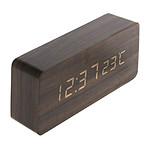 Thermomètre lingot finition effet chêne - Otio