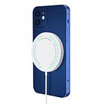 Avizar Chargeur MagSafe Blanc pour Tous les appareils Apple dotés de la fonction QI
