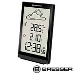 Bresser Station Météo Noire Avec Thermomètre Et Grand écran Lcd BRE_7004401-BK