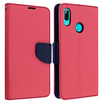 Avizar Etui folio Fuchsia Fancy Style pour Huawei P Smart 2019 , Honor 10 Lite