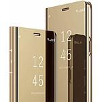 Destination télécom Etui pour Samsung S10 Plus folio effet miroir doré
