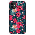 1001 Coques Coque silicone gel Apple iPhone 11 motif Hibiscus Fuchsia