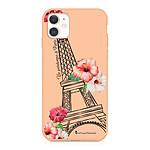 LA COQUE FRANCAISE Coque iPhone 11 Silicone Liquide Douce rose pâle Un Printemps à Paris