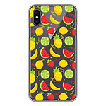 1001 Coques Coque silicone gel Apple iPhone XS Max motif Fruits tropicaux