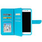 Avizar Etui folio Turquoise pour Smartphones de 4.3' à 4.7'