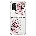 LA COQUE FRANCAISE Coque Samsung Galaxy A02S anti-choc souple angles renforcés transparente Rose Pivoine