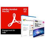 Pack Acrobat Pro DC + Microsoft 365 Personnel + Bitdefender Total Security - Licence 1 an - 1 utilisateur - A télécharger