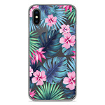 1001 Coques Coque silicone gel Apple iPhone X / XS motif Tropical Aquarelle