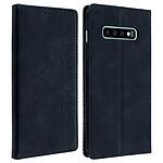 Avizar Etui folio Bleu Nuit Porte-Carte pour Samsung Galaxy S10 Plus
