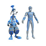 Kingdom Hearts - Pack 2 Select figurines Goofy & Tron 18 cm