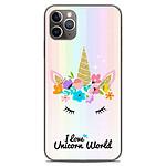 1001 Coques Coque silicone gel Apple iPhone 11 Pro Max motif Unicorn World