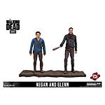 The Walking Dead - Pack 2 figurines Negan & Glenn 13 cm