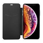 Isium Etui Portefeuillle Slim Noir Dos Transparent Iphone Xs Max