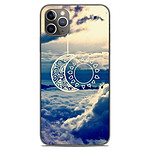 1001 Coques Coque silicone gel Apple iPhone 11 Pro Max motif Lune soleil