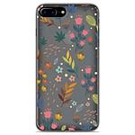 1001 Coques Coque silicone gel Apple iPhone 8 Plus motif Fleurs colorées
