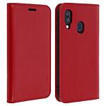 Avizar Etui folio Rouge Cuir véritable pour Samsung Galaxy A40