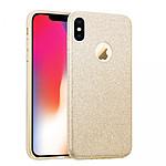 EVETANE Coque en silicone souple pailletée pour iPhone X - Or