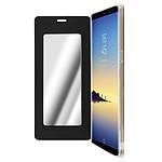 Avizar Etui folio Noir Miroir pour Samsung Galaxy Note 8