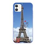 LA COQUE FRANCAISE Coque iPhone 11 Silicone Liquide Douce lilas Love Paris