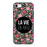 EVETANE Coque iPhone 7/8/ iPhone SE 2020 Silicone Liquide Douce bleu marine La Vie en Rose