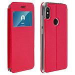 Avizar Etui folio Rouge Éco-cuir pour Xiaomi Redmi Note 6 Pro