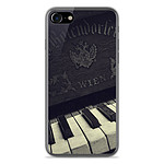 1001 Coques Coque silicone gel Apple IPhone 8 motif Old piano
