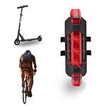 Lampe rechargeable USB rouge pour trottinette, vélo, deux roues ME101R
