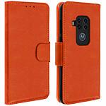 Avizar Etui folio Orange pour Motorola One Pro , Motorola One Zoom