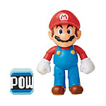 World of Nintendo - Figurine Mario with POW Block 10 cm