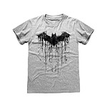 Batman - T-Shirt Dripping Logo Batman - Taille XL