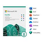 Microsoft 365 Famille - Licence 1 an - Postes illimités - 6 utilisateurs - A télécharger