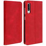 Avizar Etui folio Rouge Vieilli pour Samsung Galaxy A50