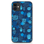 1001 Coques Coque silicone gel Apple iPhone 11 motif Corail bleu