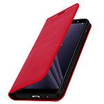 Avizar Etui folio Rouge pour Samsung Galaxy A6 Plus