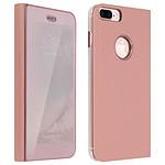 Avizar Etui folio Rose pour Apple iPhone 7 Plus , Apple iPhone 8 Plus