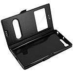 Avizar Etui folio Noir pour Sony Xperia XZ Premium