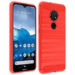 Avizar Coque Rouge pour Nokia 7.2 , Nokia 6.2