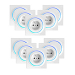 Fibaro Lot de 10 prises intelligentes encastrées Z-Wave+ - Walli Outlet Type E
