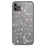 1001 Coques Coque silicone gel Apple iPhone 11 Pro Max motif Lignes étoilées