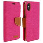 Avizar Etui folio Rose Portefeuille pour Apple iPhone X , Apple iPhone XS